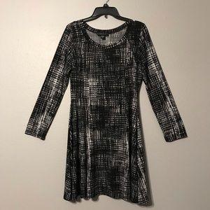 Long sleeve dress.